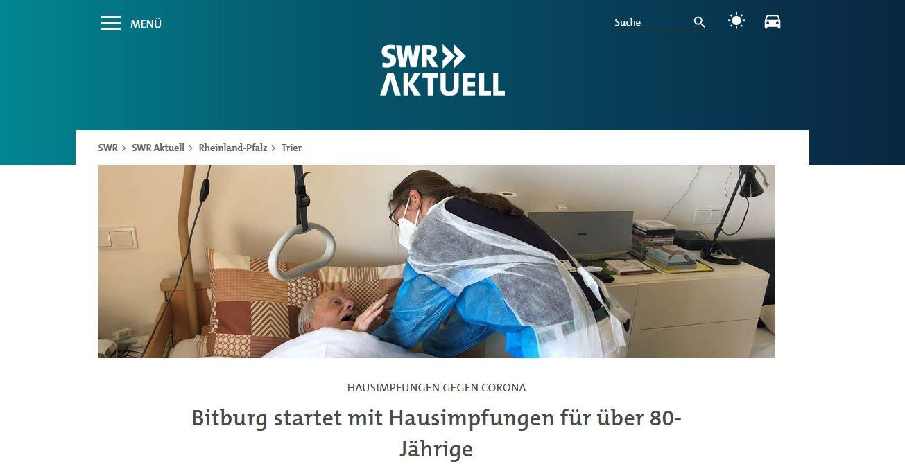 SWR Aktuell Bitburg Corona Hausimpfungen