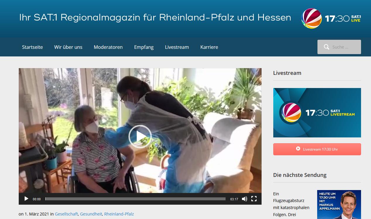 Sat1 Rheinland-Pfalz Corona Impfungen zuhause