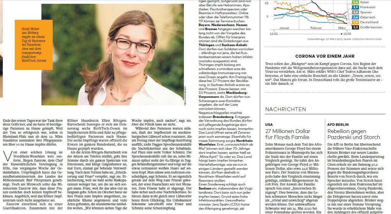 Welt am Sonntag Heidi Weber Bitburg
