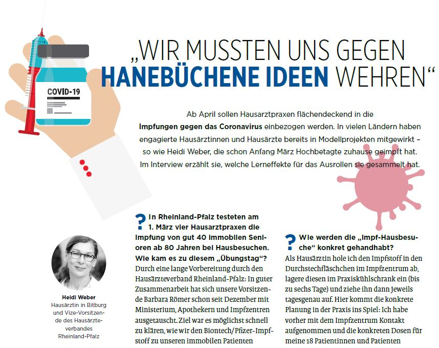 der Hausarzt Wir mussten uns gegen hanebüchene Ideen wehren Heidi Weber