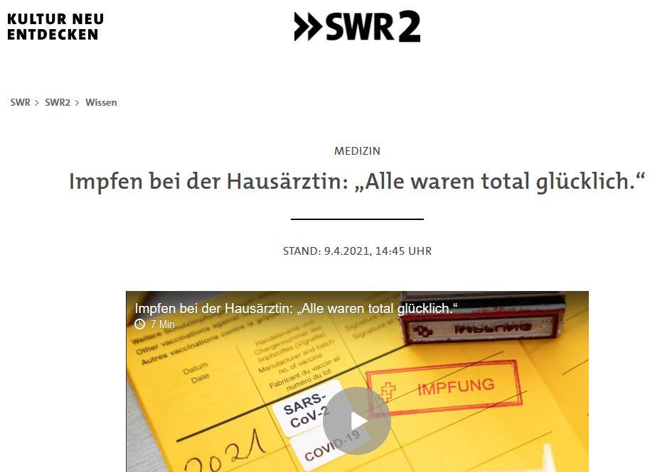 SWR 2 Impfen bei der Hausärztin